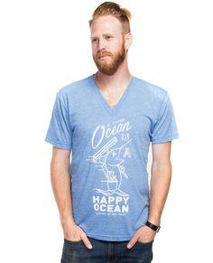 Happy Ocean V Neck