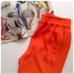 J.Crew Drapey Bright Orange Capri Worn once and in excellent conditions, these slouchy slim fit Capris are perfect for summer and super comfortable. My personal pictures can't do justice to these pants so I borrowed a picture from the web and she modeled it perfectly  (see last pic).  Offers welcome J. Crew Pants Capris