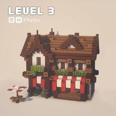 Minecraft Cottage, Cute Minecraft Houses, Minecraft Castle, Minecraft Plans, Minecraft House Designs, Amazing Minecraft, Minecraft Tutorial, Minecraft Blueprints, Minecraft Interior Design