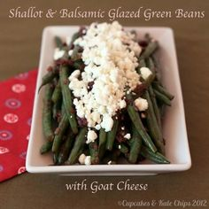 ... ! | Pinterest | Roasted Green Beans, Green Beans and Goat Cheese