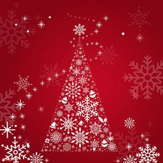 Red Christmas winter holiday background with snowflake and Christmas tree vector | free image by rawpixel.com Green Christmas, Christmas Design, Christmas And New Year, Xmas Greetings, Christmas Greeting Cards, Winter Holidays, Holidays And Events, Christmas Tree Background, Trendy Tree