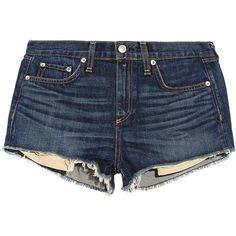 Rag & bone JEAN Mila cut-off denim shorts (£80) ❤ liked on Polyvore