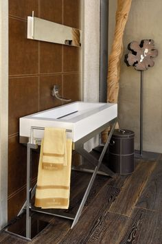 Individualize your bathroom | wood | leather | natural stone | metal www.newagestone.gr