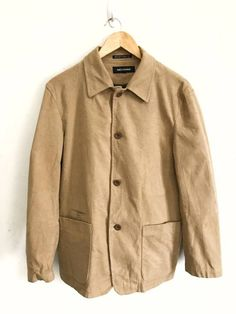 """Japanese Brand Japanese Brand Ined Homme Made In Japan Button Jacket Size 2 Armpit 22""""x29"""" Size m - Light Jackets for Sale - Grailed"""