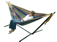 Vivere UHSDO9 Double Hammock with Space-Saving Steel Stand - Tropical Vivere http://smile.amazon.com/dp/B004YJCP7O/ref=cm_sw_r_pi_dp_0EkJub09XGFJA