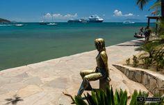Brigitte Bardot's statue in Buzios, Brazil