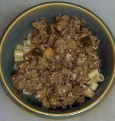 Ground Beef Stroganoff, made using a Chef Watson recipe. It tastes FAR better than it looks. ;)