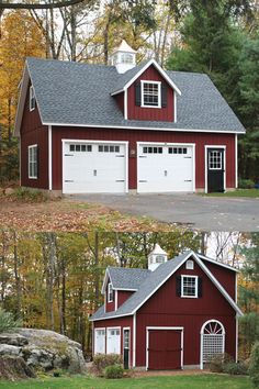 See how this Kloter Farms customer chose to add a gabled dormer in the front and a shed dormer in the back to maximize the space in their 20' x 30' 2 Story Elite Cape Garage.