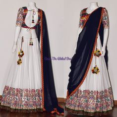 chaniya choli 2017 Silk Chania with designer brocade blouse and contrast dupatta Indian Bridal Lehenga, Indian Bridal Fashion, Indian Fashion Dresses, Dress Indian Style, Indian Gowns, Indian Designer Outfits, Indian Attire, Half Saree Designs, Lehenga Designs