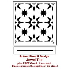 Jewel Tile Stencil from Cutting Edge Stencils. http://www.cuttingedgestencils.com/jewel-tile-stencil-cement-tiles-stencils.html