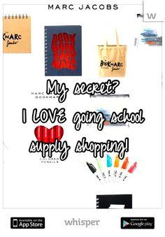 ¿El secreto del diseñador Marc Jacobs? ¡ADORA ir de compras a los school supplies!