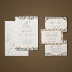 Gorgeous geometric invitations by Ann Elizabeth