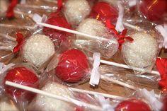 Red & White Wedding Cake Dessert Lolly Pop's