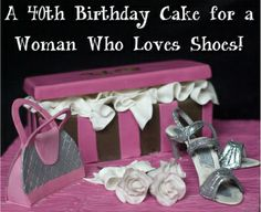 A thoughtful, creative list of birthday gift ideas for women turning forty, plus links to make shopping easy. These birthday gift ideas will make her happy! 40th Birthday Gifts For Women, Birthday Woman, Shoe Box Cake, 40th Party Ideas, Birthday Parties, Birthday Cake, Beautiful Cakes, Cupcake Cakes, Special Occasion