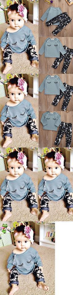 Baby Girls Clothing: Newborn Infinfant Baby Girls Boy Clothes T-Shirt +Leggings Pants Outfit Set Bao BUY IT NOW ONLY: $9.99 #babyboyoutfits #babygirloutfits