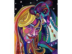 50% OFF Storewide- Greyhound art dog Art Print Poster by Heather Galler Painting (HG498)