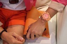 peach and coral watch