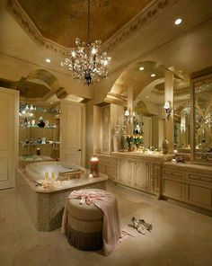 Dream Master Bathroom Luxury is categorically important for your home. Whether you choose the Master Bathroom Ideas Decor Luxury or Luxury Bathroom Master Baths Dreams, you will create the best Luxury Bathroom Master Baths Beautiful for your own life. Dream Bathrooms, Dream Rooms, Beautiful Bathrooms, Luxury Bathrooms, Master Bathrooms, Master Baths, Romantic Bathrooms, Glamorous Bathroom, Fancy Bathrooms