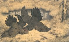 Theodor Kittelsen: The Troll-bird flutters its wings and fights in there...