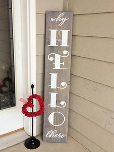 Welcome sign for front door housewarming gift tall welcome   Etsy