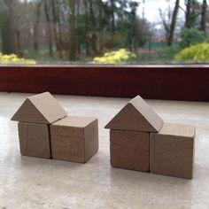 Bouwen met kubus en halve kubus. 9.