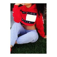 Long Sleeve Letter Pattern Red Crop Hoodie (115 RON) ❤ liked on Polyvore featuring tops, hoodies, crop top, red, pullover hoodies, cropped hooded sweatshirt, red hoodie, red hoodies and blue hooded sweatshirt