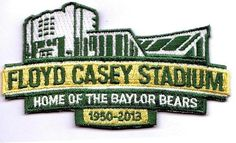 As we celebrate the final season at Floyd Casey Stadium, #Baylor football will wear this uniform patch. (via UniWatch on Twitter) #SicEm #FarewellCase