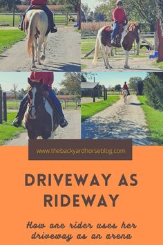 Not everyone has an indoor arena (or even an outdoor) at their disposal. Some of us have to get creative in order to ride when the weather or footing conditions are not ideal. Read about how one backyard horse keeper can use her driveway as a training space for her horse.