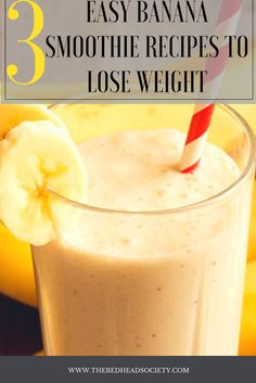 3 EASY BANANA SMOOTHIE RECIPES TO LOSE WEIGHT