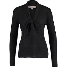 Black Pussy Bow Jersey Top Tk Maxx, Bow, Blouse, Long Sleeve, Sleeves, Sweaters, Black, Women, Fashion