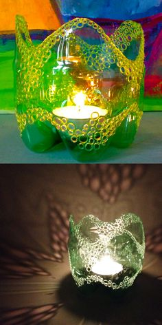 Recycle Plastic Bottle Candle