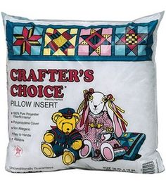Crafter's Choice 100% Polyester Pillowform # 7945702 - 18''x18'' SALE $7.79 100% polypropylene cover and filled with 100% polyester fiber