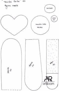 como hacer una almohada en forma de perroConMoldes.com Dolls, Sewing, Diy, Ideas, Pillow Crafts, Fabric Toys, Felt Animals, Funny Throw Pillows, Sewing Ideas