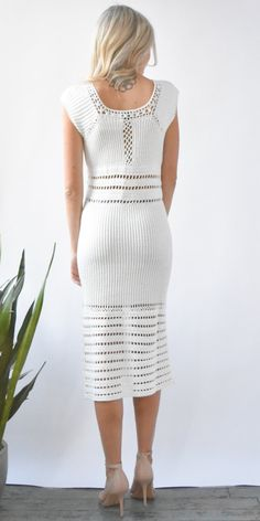 Show Me Your Mumu Crawford Crochet Dress in Cream
