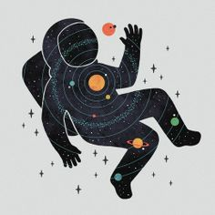#planets #astronaut #illustration