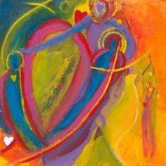 For Linda. 6 x 6 Contemporary Christian ART por KristinReplogleArt Prayers To Mary, Digital Museum, Thing 1, Inspirational Artwork, Amai, Christian Art, Love Pictures, Watercolor Paper, Jewelry Art