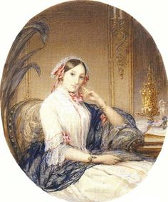 Grand duchess Maria Nikolaevna (1819-1876) a daughter of Emperor Nicholas I of Russia, sister of Alexander II and aunt of Alexander III. In 1839 she married Maximilian, Duke of Leuchtenberg. She was an art collector and President of the Imperial Academy of Arts in Saint Petersburg.