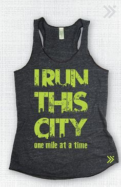 I Run This City Eco Tank by everfitte on Etsy