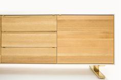 Shaker Bureau is a minimalist design created by Canada-based designer Jeff Martin Joinery. The design is available in either matte white, oak, and bronze, or matte white, Claro walnut, and raw steel. (3)