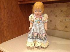 Daisy-Kingdom-Doll-Molded-Hair-Blue-Eyes-17-25-Tall-3075-32105-Very-Nice-cond