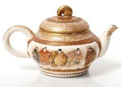 Antique Japanese Pottery Satsuma Miniature Teapot Signed | eBay
