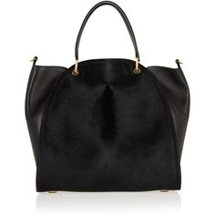 Maiyet Large Peyton calf hair and leather shopper ($2,250) ❤ liked on Polyvore