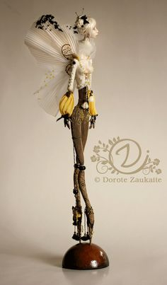 Fantasy | Whimsical | Strange | Mythical | Creative | Creatures | Dolls | Sculptures | ☥ | A unique art Doll Butterfly Spirit by tirelessartist on Etsy, $1500.00