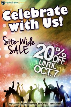 Celebrate our store's 13th anniversary and enjoy 20% off everything on our website!