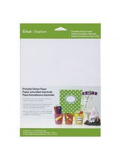 The Good Craft Shop:   Cricut Printable Sticker Paper 8.5x12in.  Make your very own colourful DIY stickers with the Cricut Printable Sticker Paper.