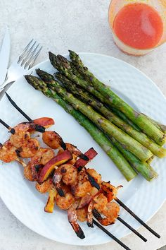 Grilled Thai Shrimp and Peaches - Enjoy these sweet and spicy shrimp and peaches at your next cookout.