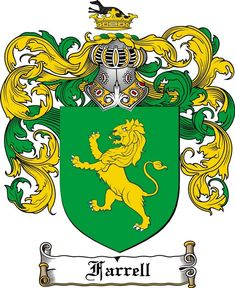 FARRELL FAMILY CREST - COAT OF ARMS gifts at www.4crests.com