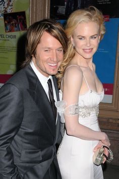 Keith Urban and Nicole Kidman, married on Sunday, 25 June 2006  They have 2 daughters and they always look so happy together.