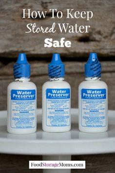 How To Keep Stored Water Safe| via www.foodstoragemoms.com