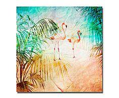 Lienzo Flamingo Jungles